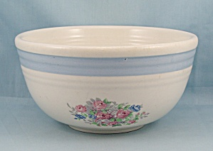 Bake Oven U.s.a. - Mixing Bowl - Floral, Blue Band