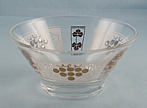 Dip Bowl, For Chip & Dip Set - Gold Grapes