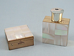 Marhill - Mother Of Pearl - Pill Box & Perfume Bottle