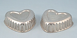Two Small Heart Shaped - Aluminum Molds