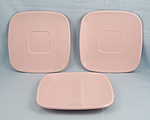 Brookpark Pattern, Pink - Melmac Dishes 3 Pc.