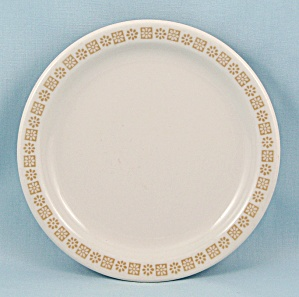 Country Kitchen - Shenango China, Bread Plate, Gold Rim Floral Pattern