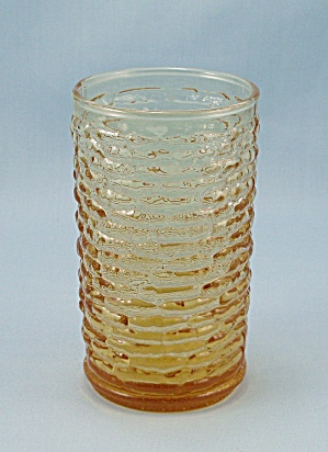 Anchor Hocking - Soreno - Harvest Gold, Flat Juice Tumbler - 1960's