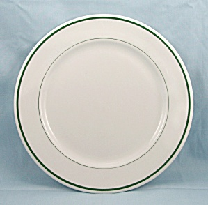 O.p. Co. - Plate - Green Lines - 9-inch