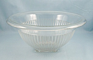 Federal Paneled Mixing Bowl, Clear - Depression Glass