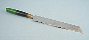 Bread Knife - Green/black Handle