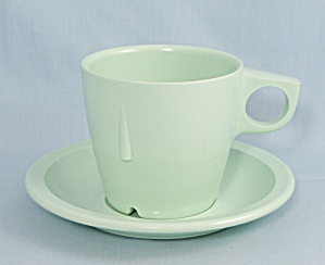 Arrowhead - Mint Green Cup & Saucer Set