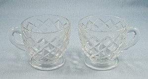 2 Anchor Hocking/ Waffle/ Punch Cups