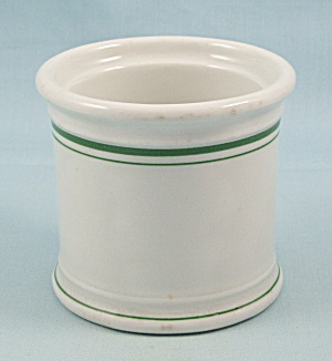 Carr China - Condiment Container, Green Lines, 1937