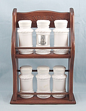 Wooden, Two- Shelf Spice Rack, Smaller Size