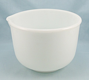 Fire King / Sunbeam / White Mixing, Batter Bowl, Spout