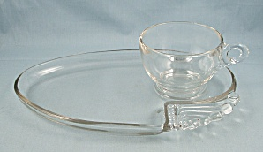 Columbia Snack Plate & Cup, Art Deco, Federal Glass