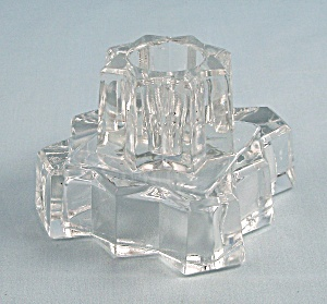 Indiana Glass No. 1005 Low Candlestick, Crystal