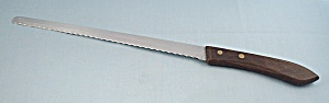 Ekco - Bread Knife - Brown Wood