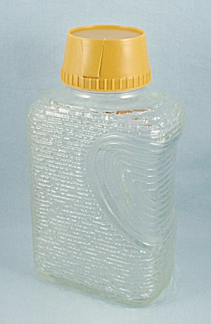 Soreno Clear - Water Bottle/ Refrigerator Jar, Harvest Gold Lid
