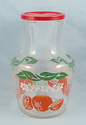 Anchor Hocking, Juice Carafe / Orange Juice Jar, Vintage