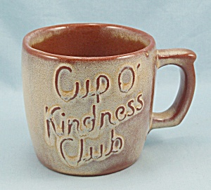 "Frankoma 1957 ""cup O' Kindness"" Oklahoma's Golden Jubilee"
