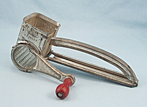 Mouli Grater - Made In France - Red Wood Handle