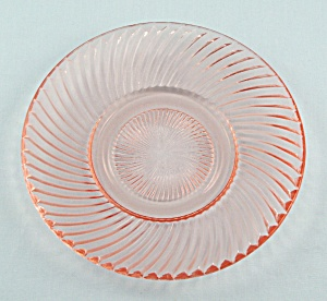 Diana Pink, 6- Inch Bread And Butter Plate, Federal Glass