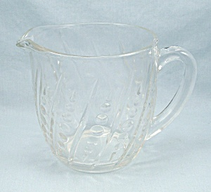 255 Anchor Hocking- 24 Oz. Pitcher, Dots & Diagonal Lines