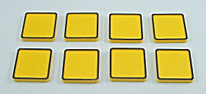 Rubik's Race Game, Ideal, 1982, 8 Replacement Yellow Tiles