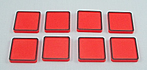 Rubik's Race Game, Ideal, 1982, 8 Replacement Orange Tiles