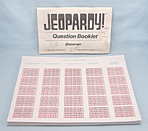 Jeopardy Game, Pressman, 1986, 47 Replacement Answer Sheets And Question Booklet