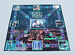Csi: The Board Game, Cbs Broadcasting, Inc., 2004, Replacement Game Board
