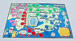 Pokémon Master Trainer Game, Milton Bradley, 1999, Replacement Game Board