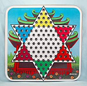 Chinese Checkers, Family Classics, Pressman, 1991, Replacement Metal Game Board