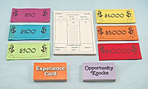 Careers Game, Parker Brothers, 1979, Replacement Scoring Pad, Money And Cards