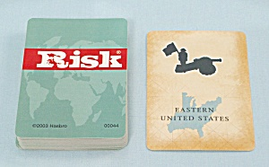 Risk Game, Parker Brothers, 2003, Replacement Deck Risk Cards