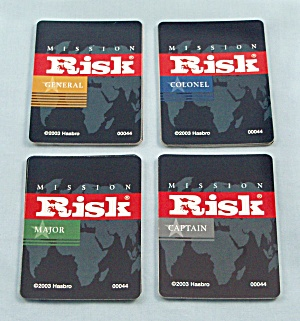 Risk Game, Parker Brothers, 2003, Replacement Deck Mission Cards