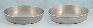 2 Vintage Mirro 1179 M - Aluminum - Removable Bottom Cake Pans