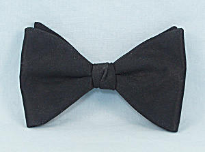 Ormond - Vintage, Men's Clip-on Black Bow Tie