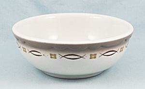 Sterling China - Chili Bowl, Brown Trim