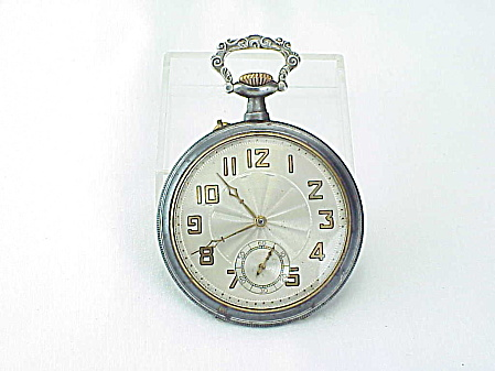 Antique Working Open Face Pocket Watch With Deer Stag On Case