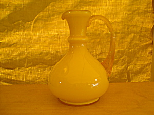 Fenton Buttercup Overlay Pitcher