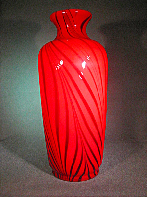 Fenton-dave Fetty Pulled Feather Ruby Royale