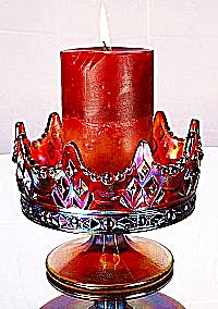 Fenton Crown Candle Bowl In Ruby