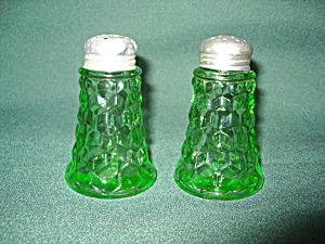 Green Cube Depression Salt & Pepper Set
