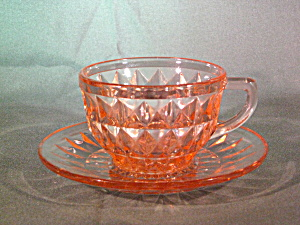 Pink Windsor Depression Cup & Saucer Set