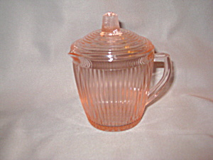 Pink Homespun Childs Set Teapot W/lid