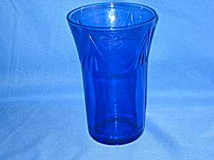 Cobalt Royal Lace Tall Ice Tea Tumblers