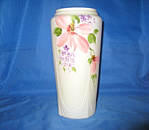 Fenton Buttercup Overlay Floral Vase
