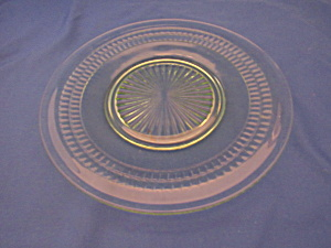 Green Roulette Luncheon Plate