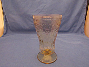 Amber Patrician Footed Tall Ice Tea Tumbler