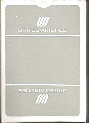 United Airlines Playing Cards-grey Box Box- Mint Condition
