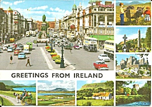 Greetings From Ireland Eight Views Postcard Cs11377