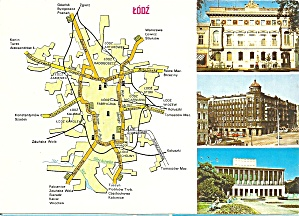Lodz Poland Three Views And Map
